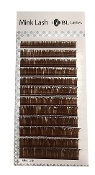 BL Blink Mink Volume Lashes .07mm Dark BROWN D, C Curl Mixed