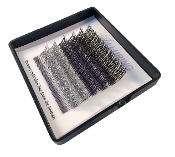Alluring Glitter Lashes Mixed Black / Gray/ Silver C Curl