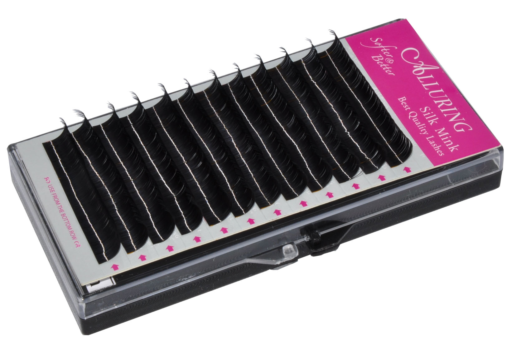 Mixed Size Alluring Silk Mink Lashes j Curl Eyelash Extension New